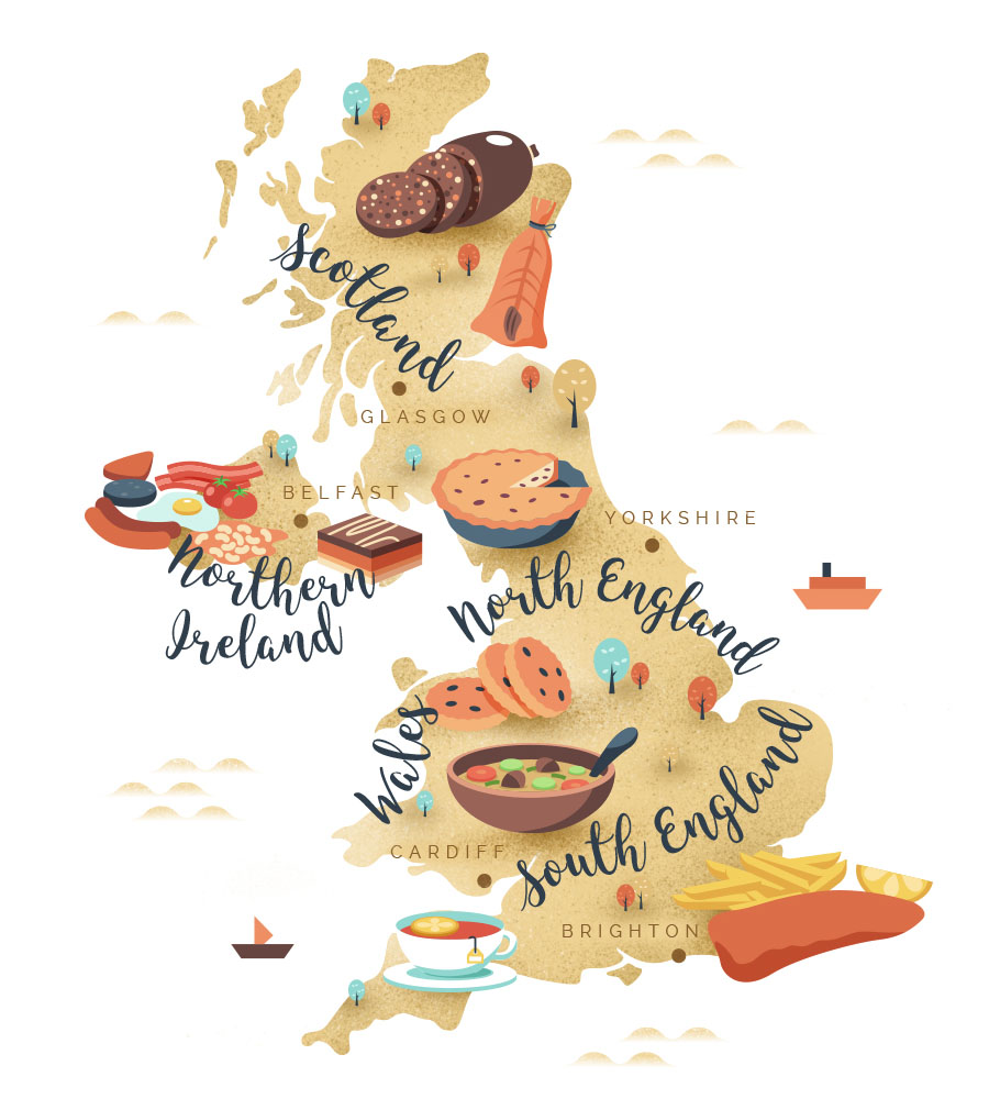 Foodie map of the uk